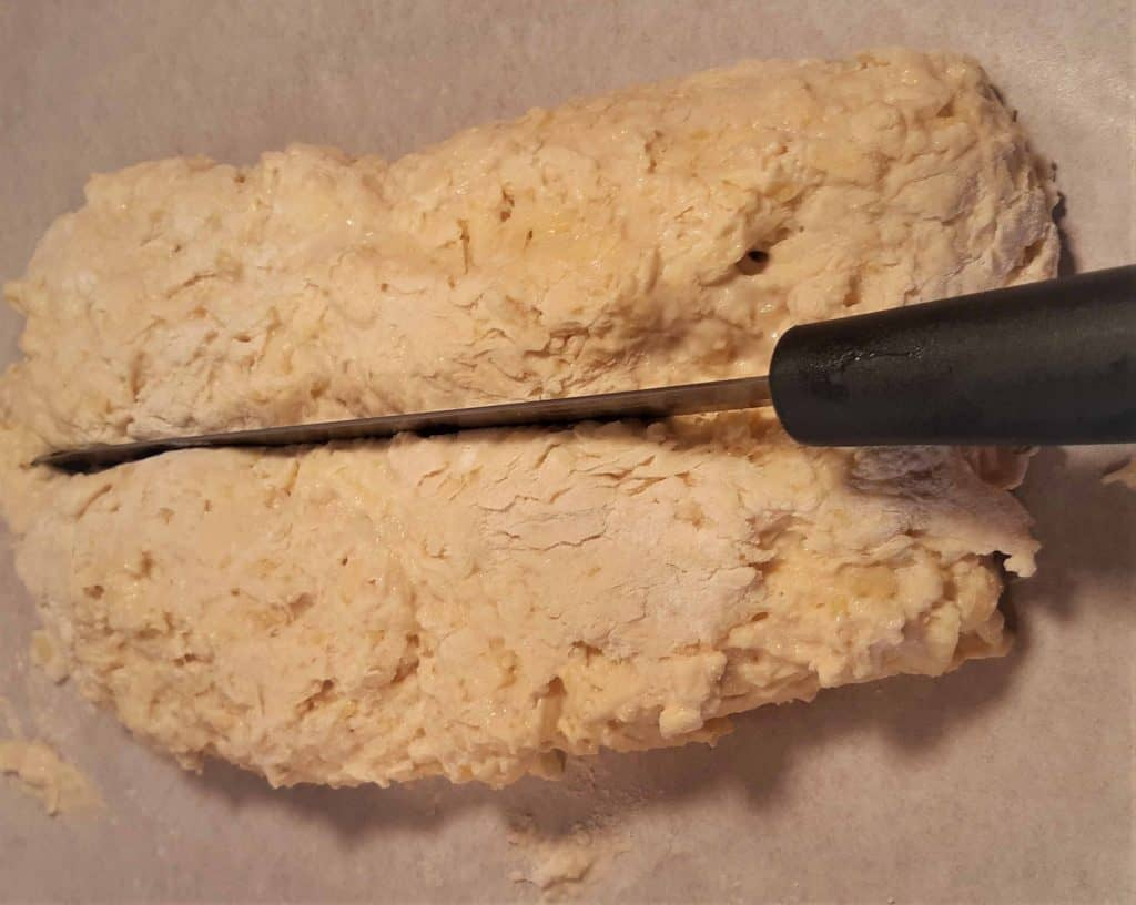 Raw scone dough