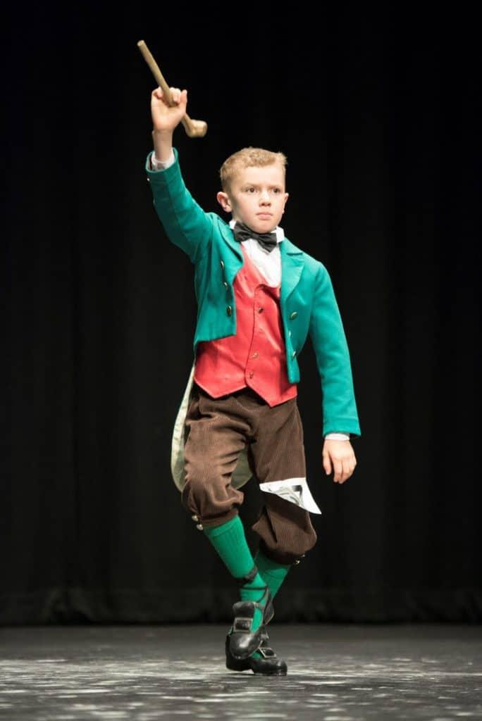 Alex Glover, aged 9, performing an Irish Jig dance.