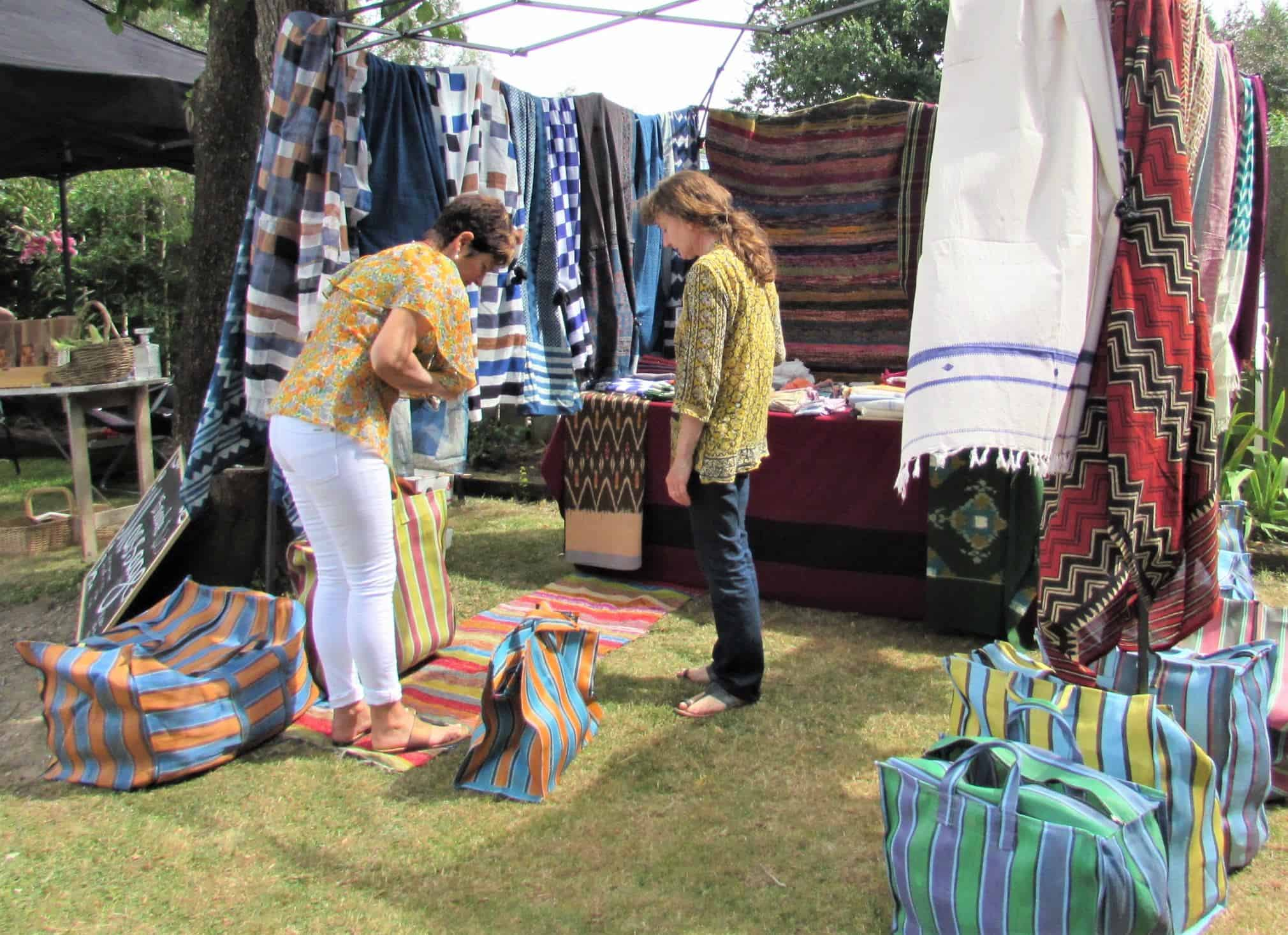 Indian bags at Hillary's Athol Valley Market stall.