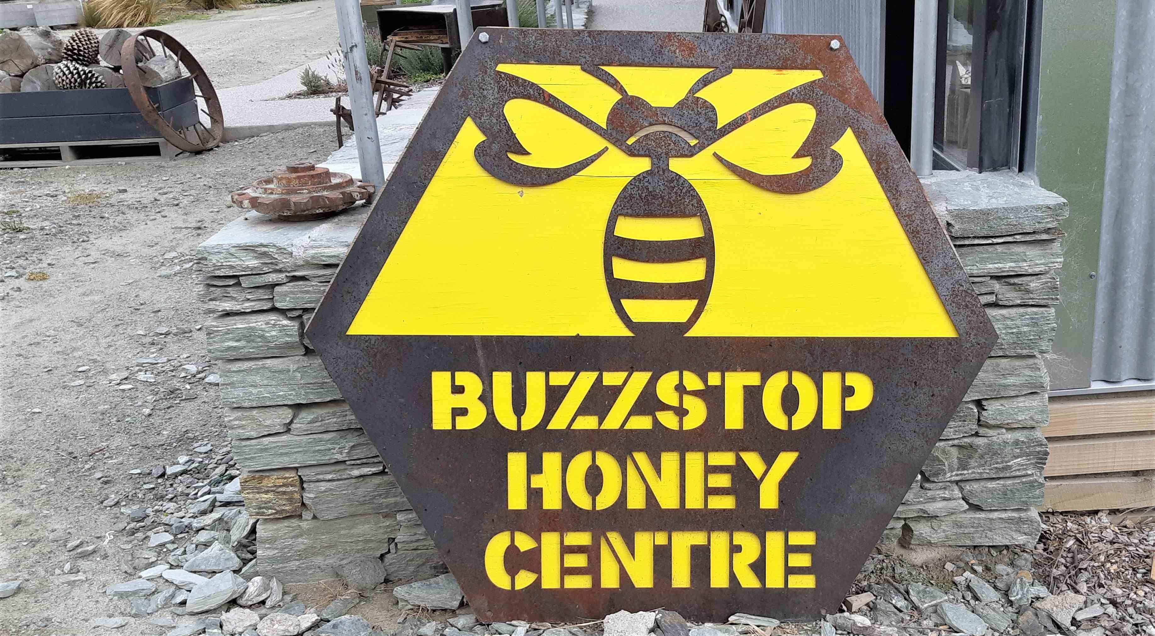Buzzstop Honey Centre Sign
