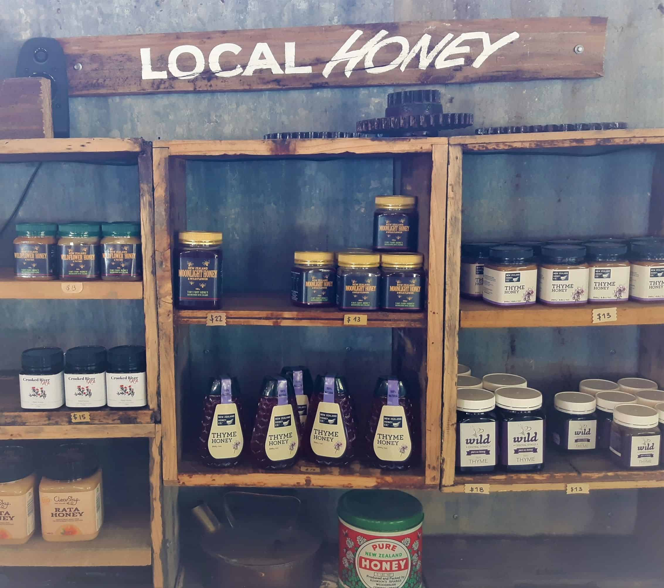 Local honey sold at Buzzstop