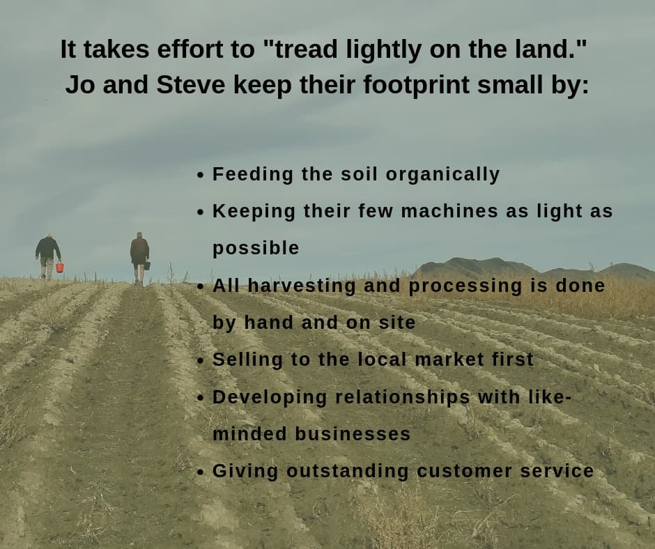 Infographic: Treading lightly on the land.